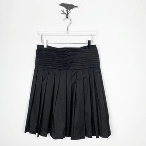 Robert Rodriguez Black Drop Wasit Pleated Skirt